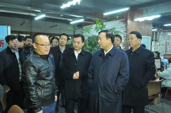陕西省副省长姜锋一行莅临维纳股份调研指导工作